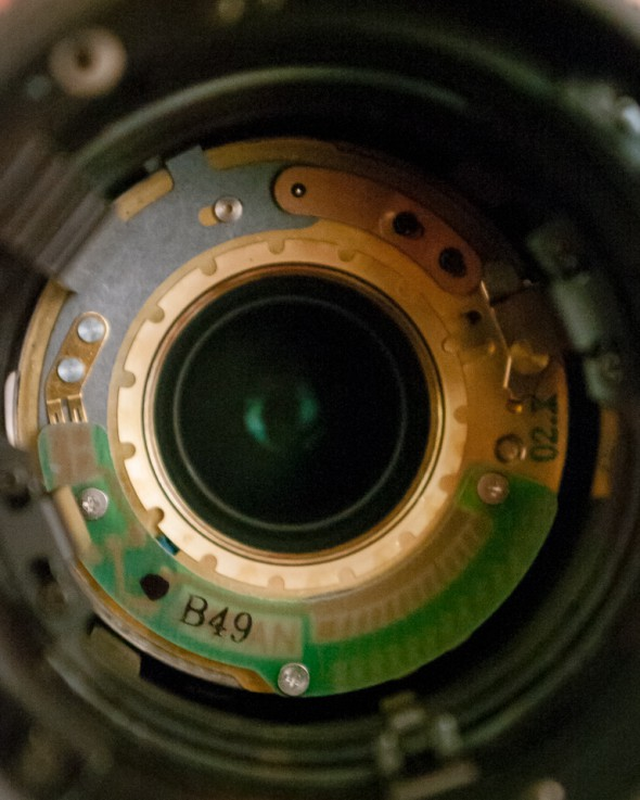 View inside the lens barrel